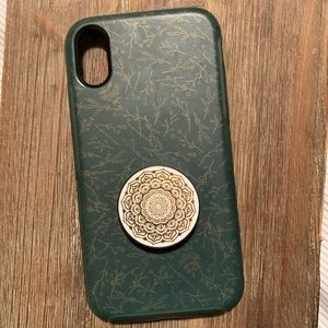 Green Floral Otterbox iPhone XR